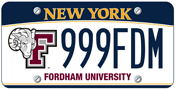 Fordham NY License Plate