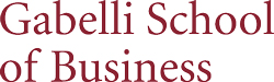 Gabelli School of Business logo.