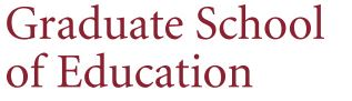 Graduate School of Education logo.