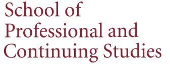 School of Professional and Continuing Studies logo.